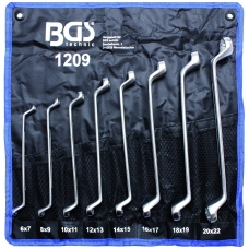 """Kilpinių tiesių raktų rinkinys 8 vnt 6 - 22 mm, """"Bgs-technic"""""""