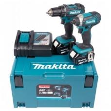Akumuliatorinių įrankių rinkinys Makita DLX2127TJ 18V 2x5,0Ah DDF482+DTD152