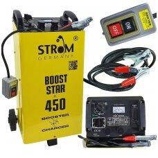 Akumuliatorių įkroviklis su paleidimo funkcija ST450 STROM