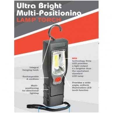 Akumuliatorinė darbo lempa COB LED 5