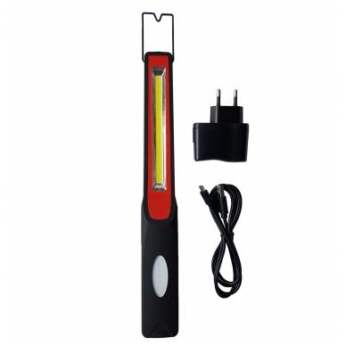Akumuliatorinė labai plona darbo lempa COB LED