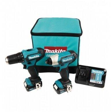Akumuliatorinių įrankių komplektas Makita CLX224A (DF333 + TD110) 2x12V 2,0Ah 2
