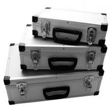 Aliuminių lagaminų rinkinys įrankiams 3vnt.