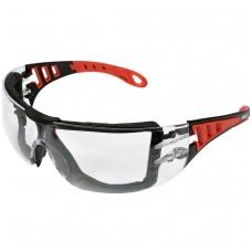 Apsauginiai akiniai bespalviai su diržu YATO