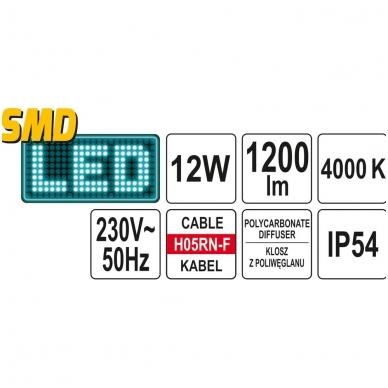 Apšvietimo lempa tvirtinama po variklio dangčiu 220V 12W LED 5