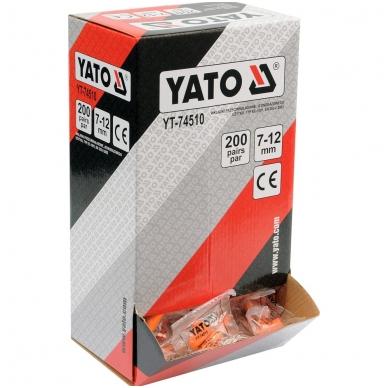 Ausų kamšteliai 34dB 200porų YATO