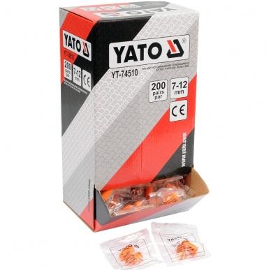 Ausų kamšteliai 34dB 200porų YATO 2