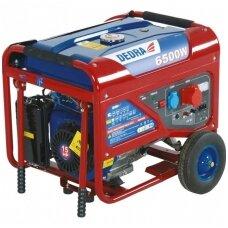 Benzininis elektros generatorius 6kW DEDRA 230V/380V