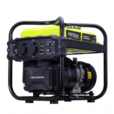 Benzininis inverterinis generatorius 2000W 230V Kraft&Dele 12