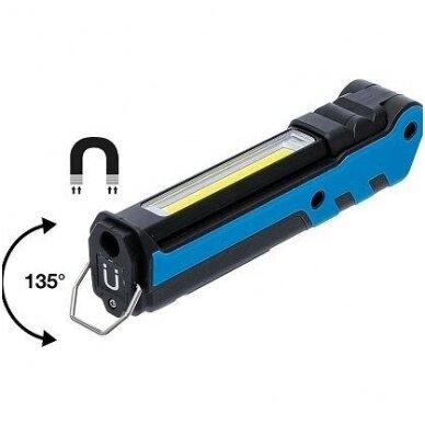 Darbo lempa akumuliatorinė COB LED 360LM BGS-Technic 5