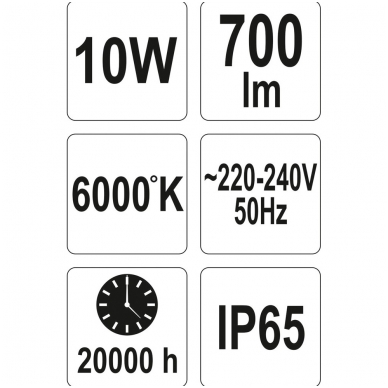 Darbo lempa COB LED 10W, 700Lm 6