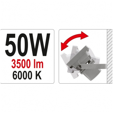 Darbo lempa COB LED 50W, 3500Lm 5