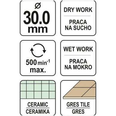 Deimantinė karūna keramikai Ø 30mm 4