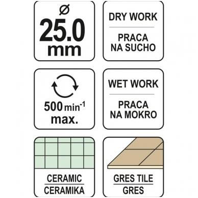 Deimantinė karūna keramikai Ø 25mm 4