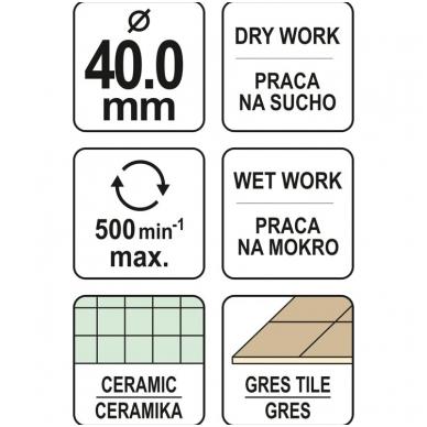 Deimantinė karūna keramikai Ø 40mm 4