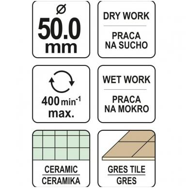Deimantinė karūna keramikai Ø 50mm 4