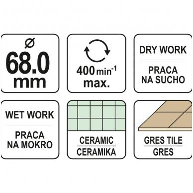 Deimantinė karūna keramikai Ø 68mm 4