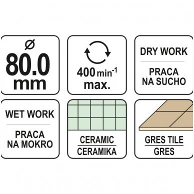 Deimantinė karūna keramikai Ø 80mm 4