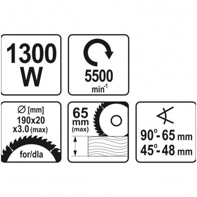 Diskinis pjūklas 1300W 3
