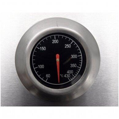 Dujinė lauko kepsninė / grilis 4 + 1 nerūdijantis plienas 16 KW 8