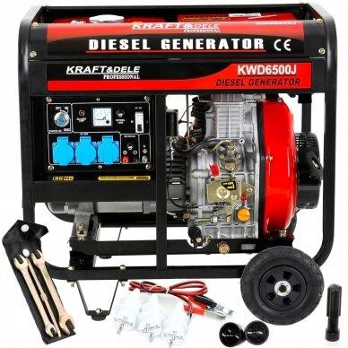 Dyzelinis generatorius 6500W 12/230V AVR