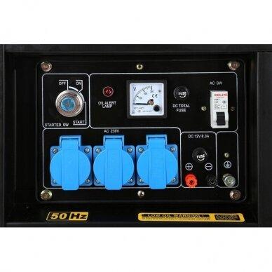 Dyzelinis generatorius 6500W 12/230V AVR 8