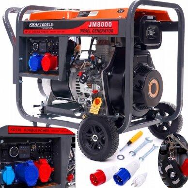 Dyzelinis generatorius 8KW AVR 230/400V