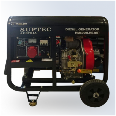 Dyzelinis trifazis generatorius SUPTEC 6,0 kW 220V/380V