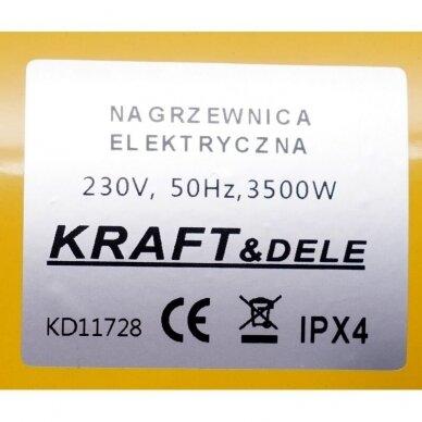 Elektrinis šildytuvas 3,5kW Keramikinis KraftDele KD11728 12