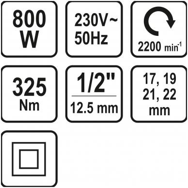 Elektrinis smūginis veržliaraktis 1/2 STHOR 7