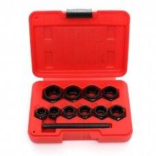 Galvučių komplektas sugadintiems varžtams 10D., 9-19mm (trumpi)