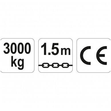 Grandininė gervė su svertu 1.5M, 3T YATO 3