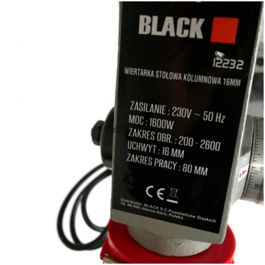 Gręžimo staklės BLACK 1600w 16mm 5