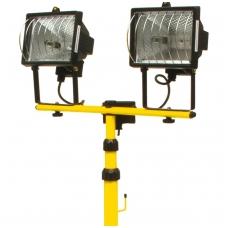 Halogeninės lempos su stovu 2x400W
