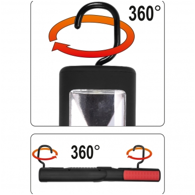 Įkraunama darbo lempa COB LED 3W 7