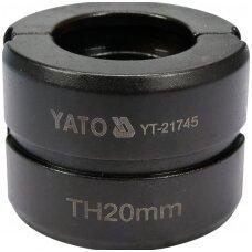 Indėklas TH 20 mm presavimo replėms YT-21735