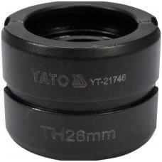Indėklas TH 26 mm presavimo replėms YT-21735
