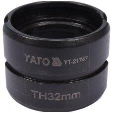 Indėklas TH 32 mm presavimo replėms YT-21735