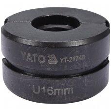 Indėklas U 16 mm presavimo replėms YT-21735