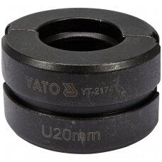 Indėklas U20 mm presavimo replėms YT-21735