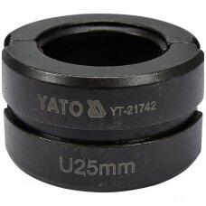 Indėklas U25 mm presavimo replėms YT-21735