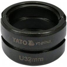 Indėklas U32 mm presavimo replėms YT-21735