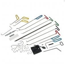 Įrankių rinkinys kėbulo įdubų, įlenkimų šalinimui be dažymo, 33 vnt.