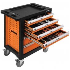 Įrankių spintelė su įrankiais 302vnt. 6 stalčiai STHOR