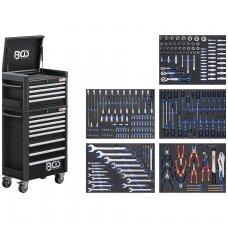 Įrankių spintelė su ratukais  Pro Standard Max 12 stalčiių su 296 įrankiais