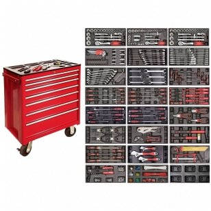 Įrankių spintelė ant ratuku su įrankiais 583vnt.