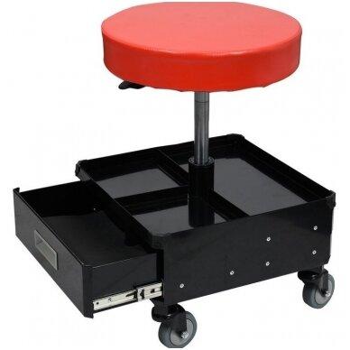 Įrankių kėdutė su 3 stalčiais YATO 4