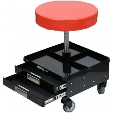 Įrankių kėdutė su 3 stalčiais YATO