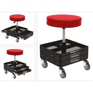 Įrankių kėdutė su 3 stalčiais YATO 5