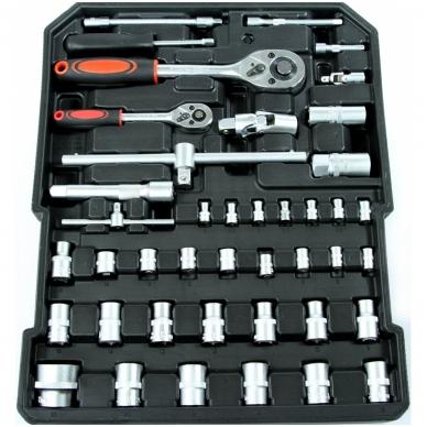 Įrankių rinkinys aliuminiame lagamine su ratukais 187 vnt. 4